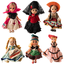 "VTG Lot 6 Ginny Dolls VOGUE International Far Away Lands 8"" Collectible ... - $39.59"