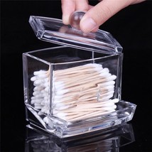 Holder Box Cotton Swabs Stick Storage Cosmetic Makeup Case Boxes Clear A... - $4.99