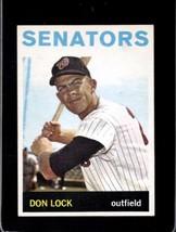 1964 TOPPS #114 DON LOCK EXMT SENATORS NICELY CENTERED  - $5.00