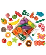 Best Quality Wooden Pretend Play Kitchen Toys Toy Fruit Vegs Cutting Sim... - $40.99+