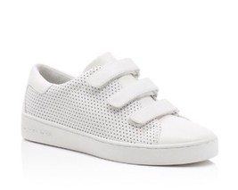 NIB Womens Michael Michael Kors Craig Leather Perforated Sneakers Shoes ... - $58.95