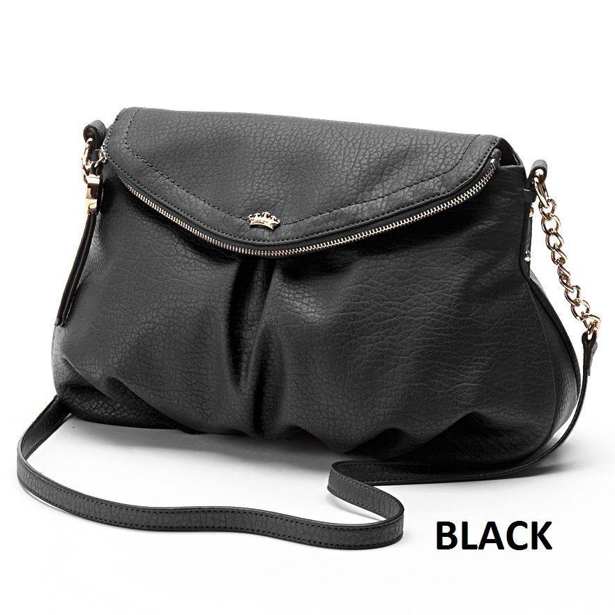 NWT Juicy Couture Messenger Crossbody Medium Bag Purse - Gold Foil -  84.95 6c3e9c92af