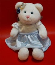 """Applaus Snowlake Fairy White Plush Teddy Bear Angel with Glittered Wings 12"""" - $17.72"""