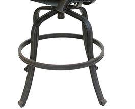 Patio bar stools Set of 4 Outdoor Furniture Nassau Swivel Cast Aluminum Bronze image 3