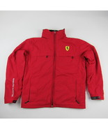 Official Scuderia Ferrari Spa Windbreaker Jacket Tuck Away Hood Size Med... - $70.11