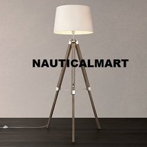 Contemporary Design Modern Tripod Floor Lamp With White Shade For Drawing Room - $177.21