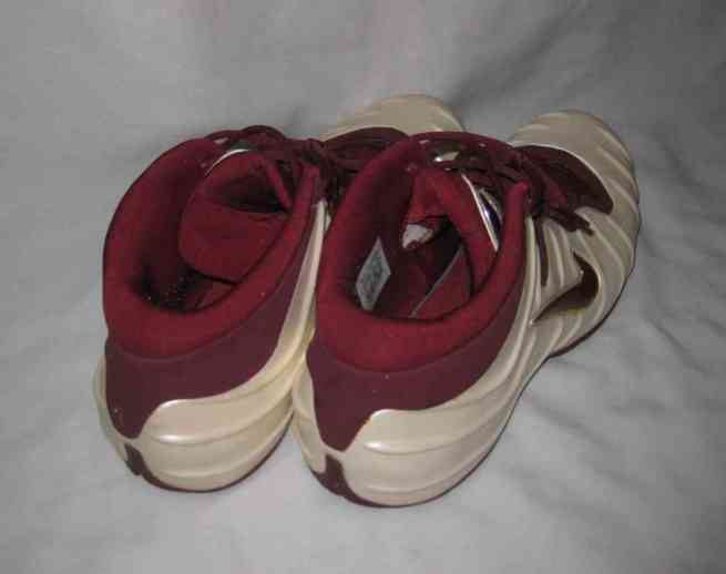 2002 Foamposite Shoes Mens Size 15 Maroon And Ivory