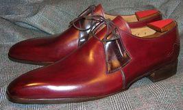 Handmade Men Derby Shoes, Men Burgundy Color Dress Shoes, Men Formal Shoes - $159.99