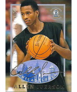 ALLEN IVERSON 1997 STRONGBOX AUTOGRAPHED COLLECTION ROOKIE CARD #5!  - $2.93