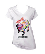 Pug - official walker c - NEW WHITE COTTON LADY TSHIRT - $19.53