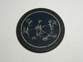 Vintage Poker Chip Double Horseshoe Early 1900's Clay or Clay Composite ... - $8.99