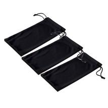 Black Microfiber Pouch Bag Soft Cleaning Case Sunglasses Eyeglasses Glasses - $9.21+