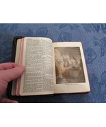 Holy Bible Illustrated KJV Self Pronouncing Edition 1950's Zipper Leathe... - $9.91