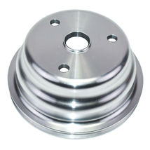 Chevy SB 262 350 400 Long Water Pump Single-Groove Aluminum Crankshaft Pulley image 4