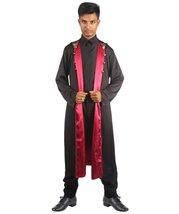 Adult Men's Vampire Coat Costume | Black Halloween Costume - $35.85