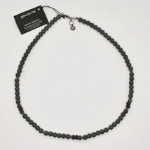 925 Sterling Silver Necklace Burnished with Hematite & Agate Made in Italy By image 2