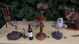 pedestal ashtray danish design 1960 Victorian plant stand art deco mid century image 9