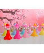 Fairy Garden Miniatures, Garden Fairies,10 Colors, Lucite Trumpet Flower... - $3.00+