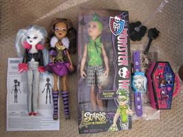 Monster High Duece Gordon Clawdeen Wolf & Burger King Watch and Coffin - $14.00