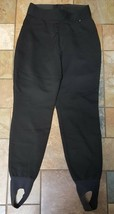 Woman's Schoeller Black Ski Pants Size 8 X 25 - $19.79