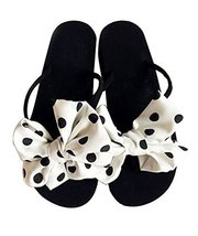 Fashion Summer Item, Lovely Polka Dot Bowknot Flip Flop Beach Casual Sandals