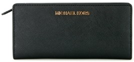 Michael Kors Purse Wallet Carryall Bifold Black Large Saffiano Leather R... - $145.19