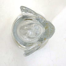 Vintage Westmoreland Glass Owl Toothpick Holder with label image 4