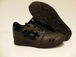 Asics running shoes Gel-Lyte III black leather size 8.5 us men - $84.10