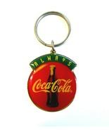 Vintage 1990's Always Coca-Cola Coke Bottle Logo Enameled Metal Keychain - $7.50