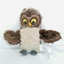 "Ikea Vandring Uggla Brown Owl Hand Puppet 10"" Plush Stuffed Animal Teachers Aide - $16.82"