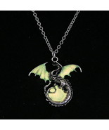 2017 Game of Throne dragon Punk Luminous Dragon Pendants Necklaces GLOW ... - $6.07