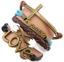 ACUNION? Handmade Infinity Cross Faith Love Charm Friendship Gift Fashion - $21.37