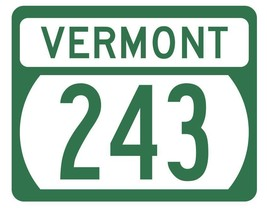 Vermont State Highway 243 Sticker Decal R5345 Highway Route Sign - $1.45+
