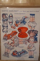 DOTTIE DARLING'S SISTER SUSIE PAPER DOLL PICTORIAL REVIEW MAGAZINE SEPT.... - $8.90