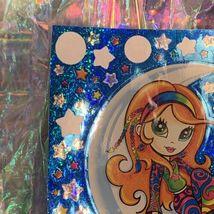 "VINTAGE *JUMBO* 8"" x 11"" Moon Star Girl Hippie Sticker Sheet RARE HTF PRISM image 6"