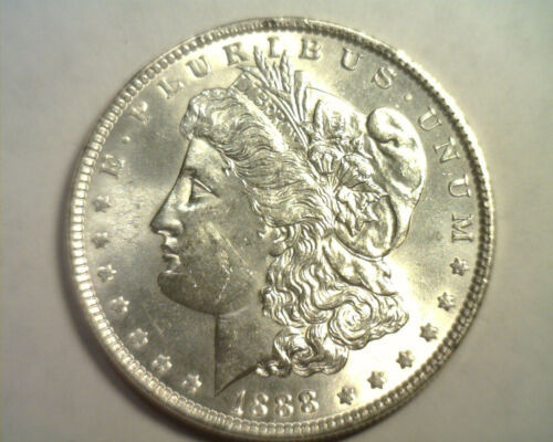 1888 MORGAN SILVER DOLLAR CHOICE UNCIRCULATED CH. UNC. NICE ORIGINAL COIN