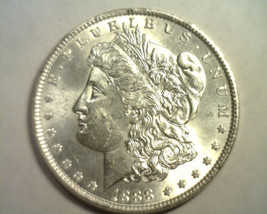 1888 MORGAN SILVER DOLLAR CHOICE UNCIRCULATED CH. UNC. NICE ORIGINAL COIN - $67.00
