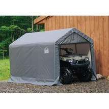 Folding Storage Shed Heavy Duty Metal Frame Canopy Anchors Doors  6' x 1... - $388.83