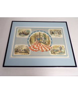 VINTAGE 1974 US History Betsy Ross George Washington Framed 16x20 Poster... - $74.44