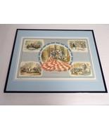 VINTAGE 1974 US History Betsy Ross George Washington Framed 16x20 Poster... - $79.19