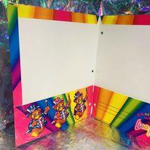Yay! Vintage Lisa Frank 2 Pocket Folder Hollywood Bear 90s Era image 4