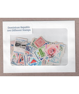 Dominican Republic 100 Different Postage Stamps - $14.95