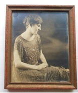 Vintage Photo from the 30's Woman in Beaded Dress Framed - $34.40