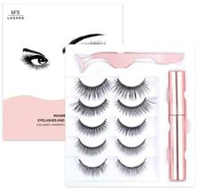 Magic/Magnetic Eyelashes Set 5 Magnets 3D Mink False Eyelashes Ship From USA Bea image 9