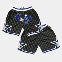 Fashion Orlando Magic Vintage Basketball Shorts Men's Stitched Pants Bla... - $49.90