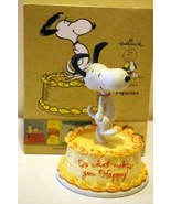 Hallmark 2011 Snoopy Dancing On A Cake - $10.07