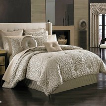New J. Queen New York Astoria 4 Piece Comforter Set Sand Color Queen - $274.99