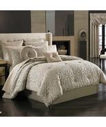 New J. Queen New York Astoria 4 Piece Comforter Set Sand Color Queen - $274.99