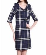 Boutique Girls / Teens Navy Blue PLAID Nova Check Cotton Tunic Shift Dress  - $16.69+
