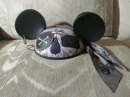 Disney Mickey Mouse Ears Hat Pirates Of The Caribbean Bandana Earring One... - $16.82